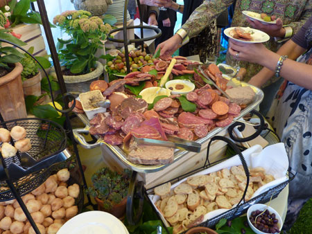 Cocktail buffet at l m townsend catering in cooperstown ny for Italian buffet