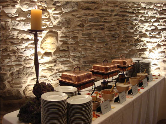 Dinner stations at l m townsend catering in cooperstown ny